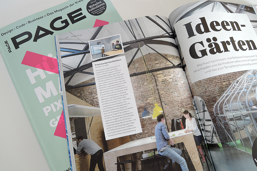 Photo Magazine PAGE opened article about dreiform office space