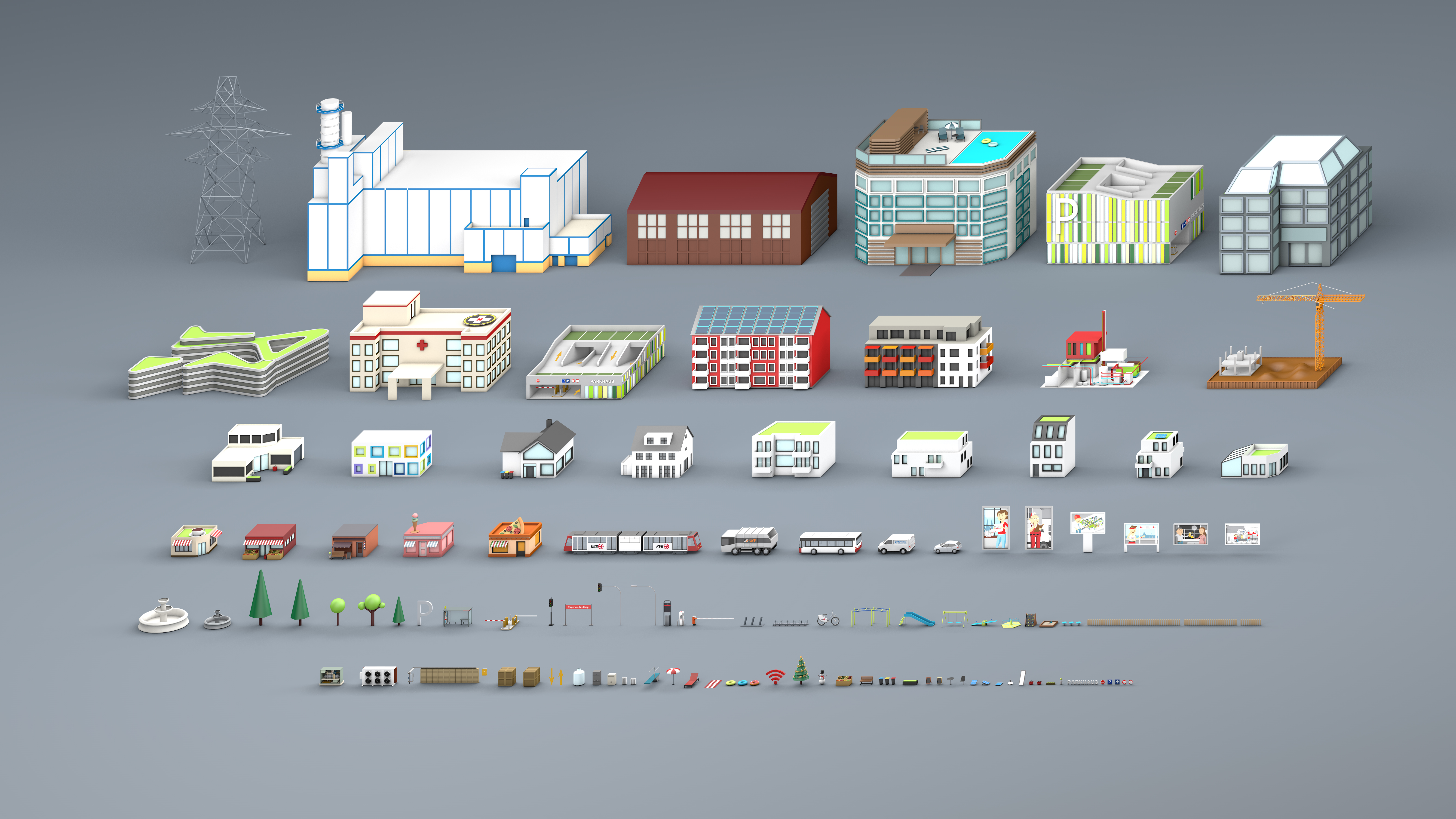 3D Rendering, buildings, AR-APP