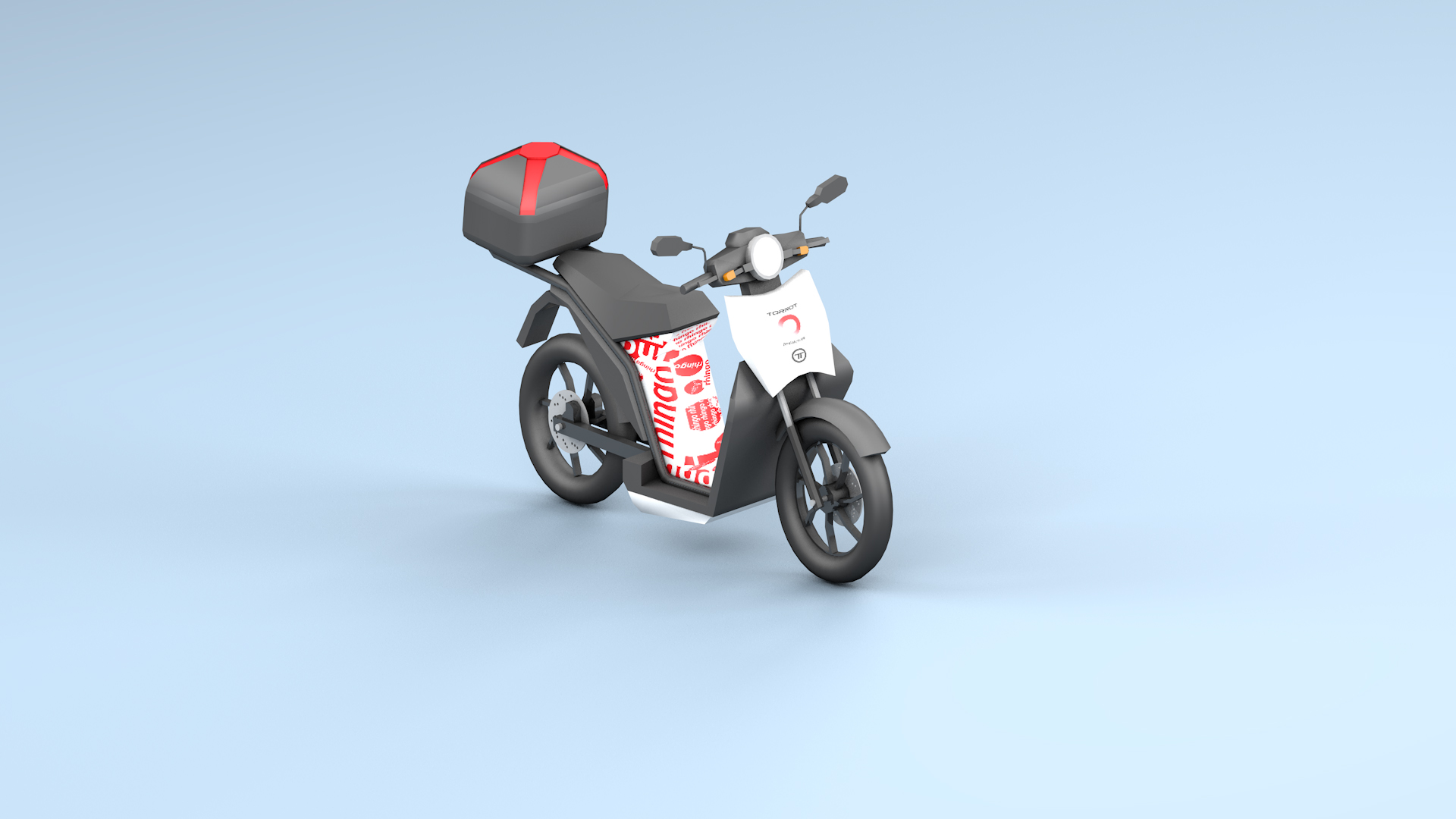 3D Rendering Scooter