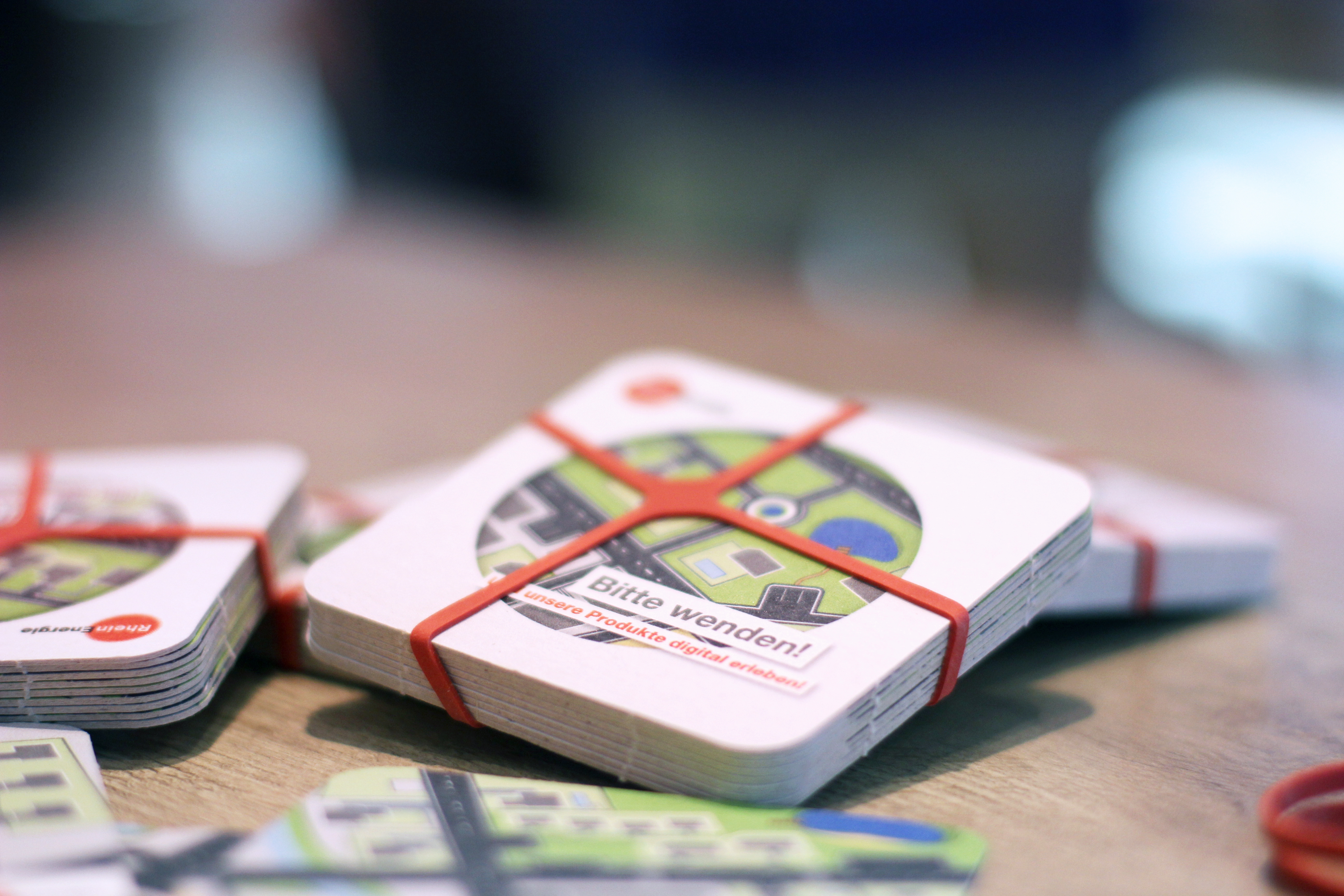 Bundled Beermats with RheinEnergie Illustration