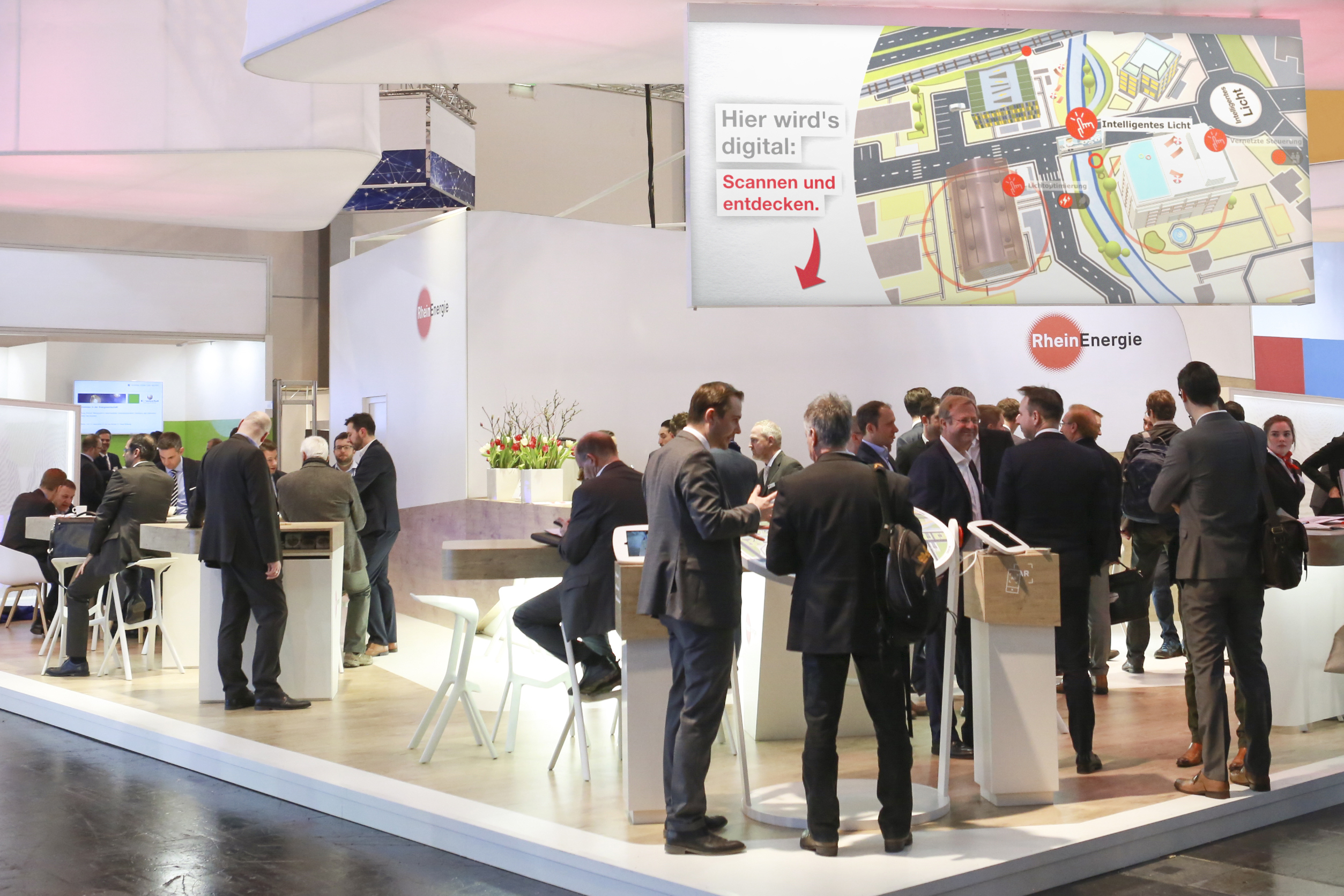 Well-frequented RheinEnergie exhibition stand