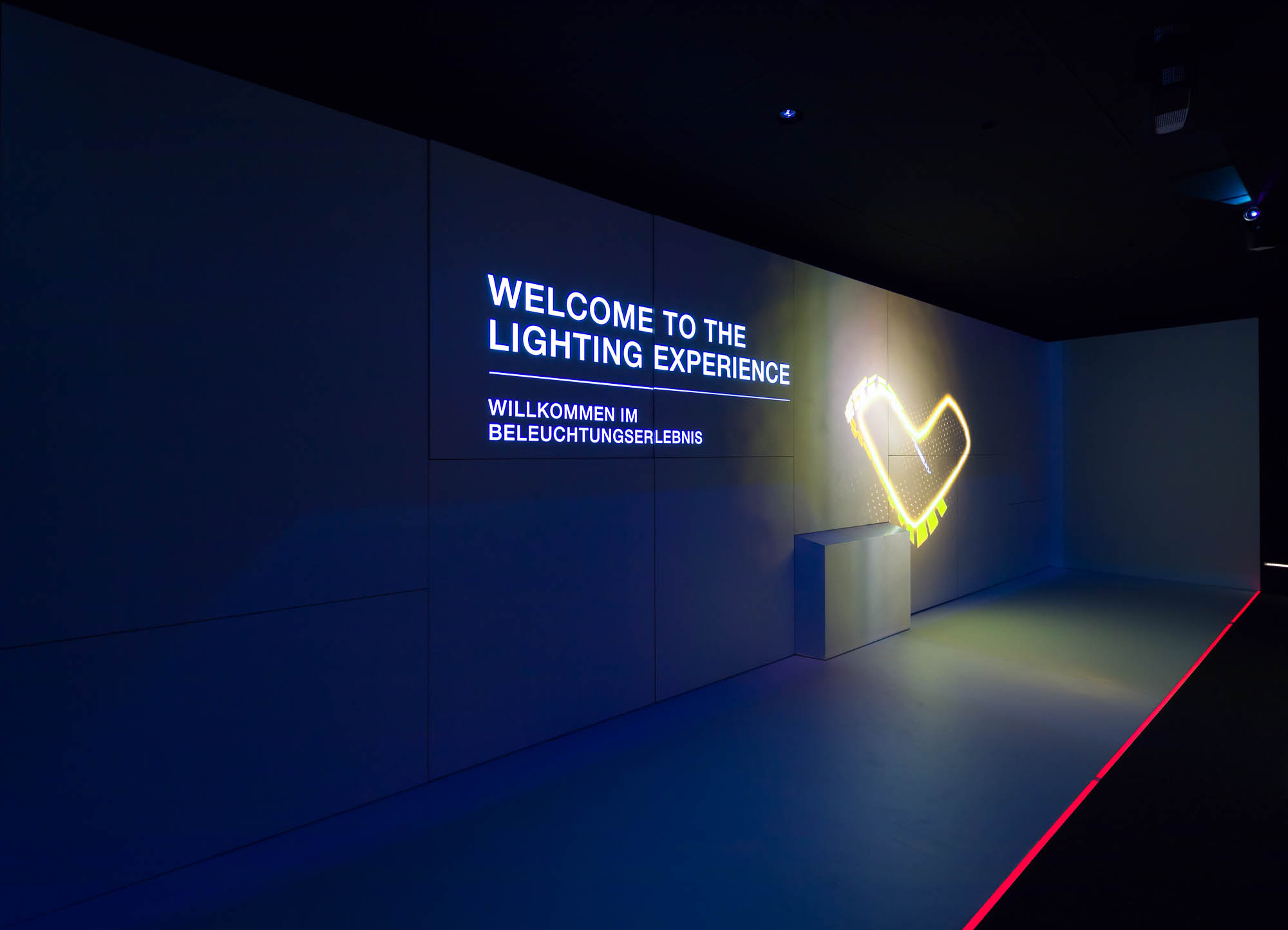 Lighting Experience Space: Light projection welcomes visitors