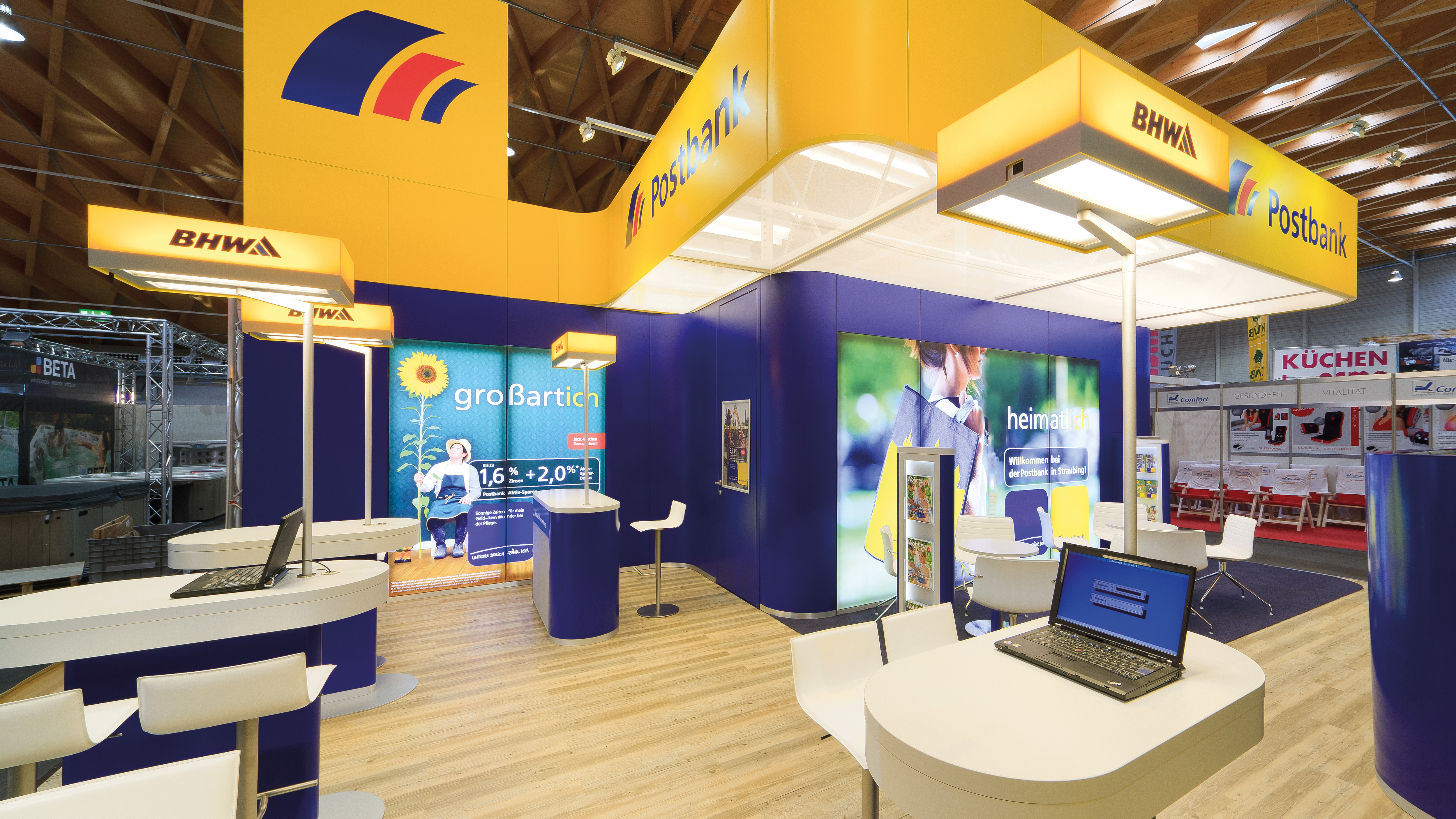 Exhibition stand resembles a Postbank branch